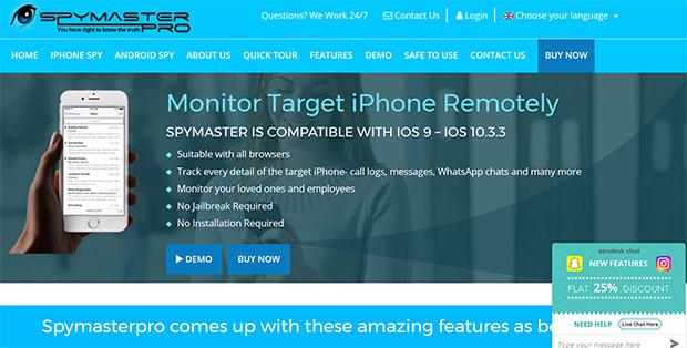 Spymaster iPhone spy app